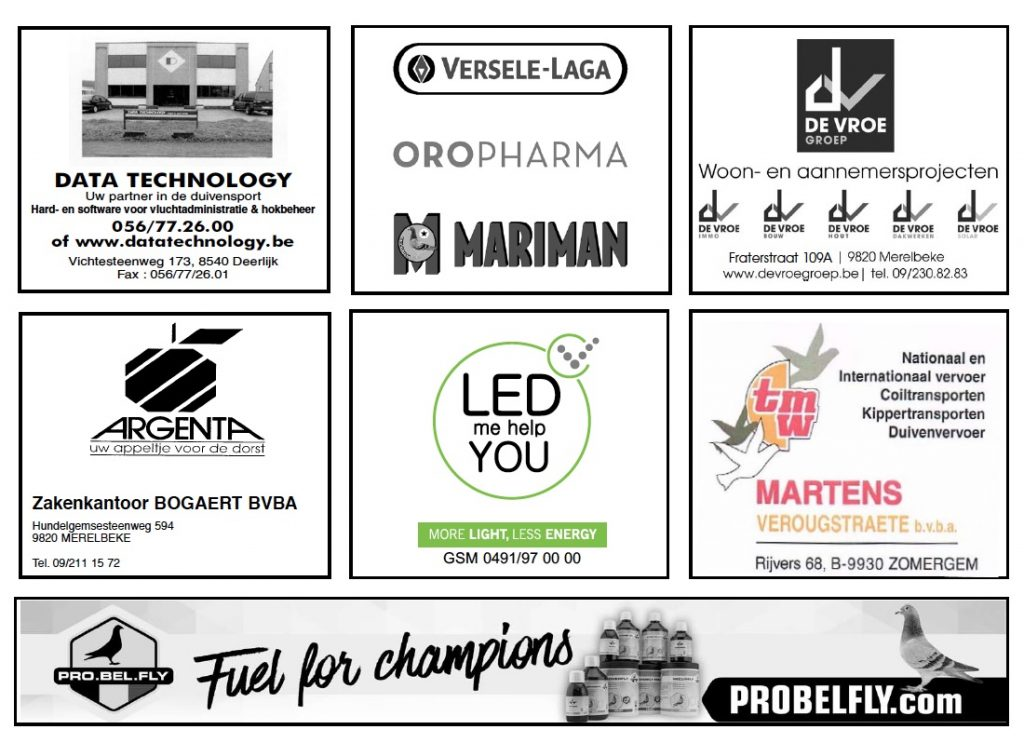 Sponsors duivenvereniging OVV-FVOV 2017